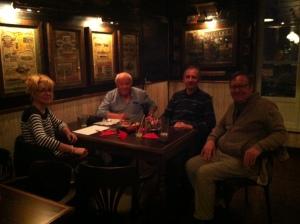 Treffen der Konversationsgruppe im Pub, Sommer 2017
